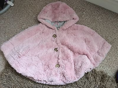 Beautiful Younger Girls 1-2years Pink Poncho From Next