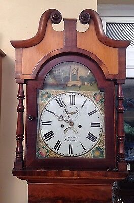 Antique Grandfather Clock  8Day By Leman Of Swansea C1840