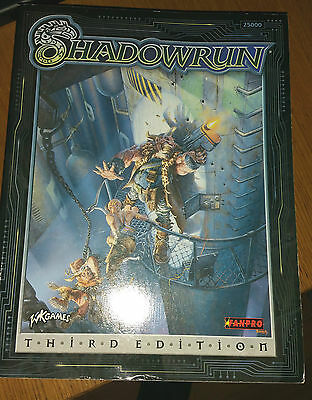VGC rare out of print SHADOWRUN Third Edition WK Games RPG Fanpro 25000 book