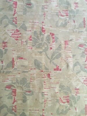 Beautiful length of printed Vintage linen 50x72 inches