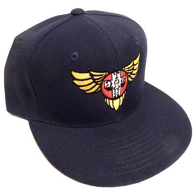 Dogtown Hat Snapback Cap Wings Embroidered Navy - skateboard skate new