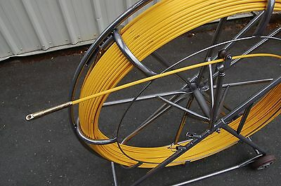 8mm x 850' Duct Rodder Fish Tape NEW Fiberglass Wire Cable Rod Fishtape Puller
