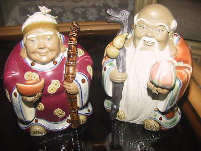 Vintage Chinese collectable and very original signed  statues
