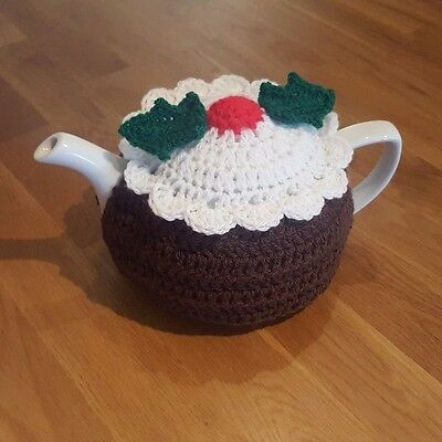 Crochet Festive Christmas Pudding Tea Cosy (Standard size/ 4-6 cups)