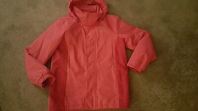 Girls Pink Regatta Waterproof Coat -Age 11-12