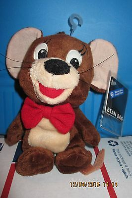 "Nwt 7"" 1998 Tom & Jerry Mouse New Warner Bros. Studio Store Beanbag Plush New"