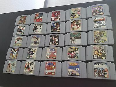 Lot of 25 Nintendo N64 Games Cleaned&Tested NO DOUBLES **FREE SHIPPING**