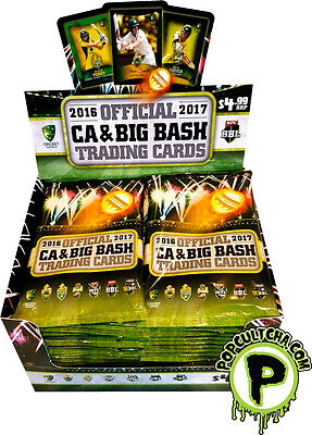 CRICKET - 2016/17 CA & Big Bash Tap 'N Play Trading Cards Sealed Box (36ct) #NEW