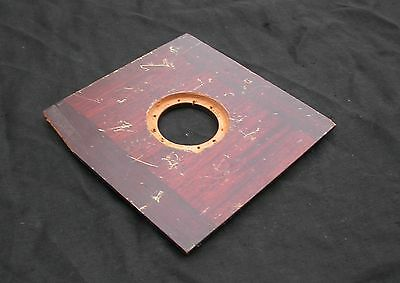 "Antique 6"" Lens Board for 8x10 Eastman 2D, Burke & James or Ansco Copal #1 Hole"