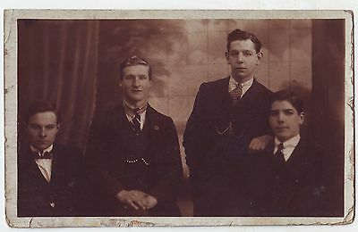 Postcard (ref 2376) – Group of Young Men in Smart Suits