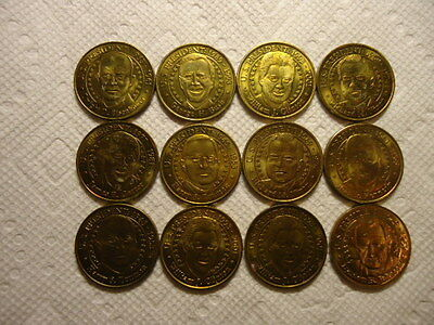 12- SUNOCO PRESIDENTIAL COINS or tokens - Bronze