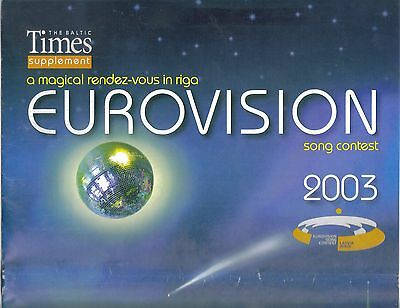 2003 Eurovision Song Contest Riga  Baltic Times Guide