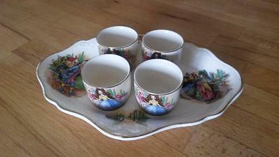 A Set Crown Ducal Egg Cups And Egg/condiment Dish