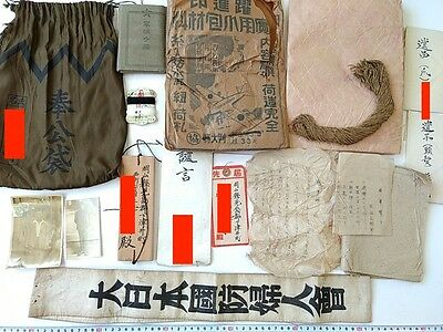 WWII Japanese Military Soldier's HOUKO FUKURO,Note Book,Testament,Dog tag set-D-