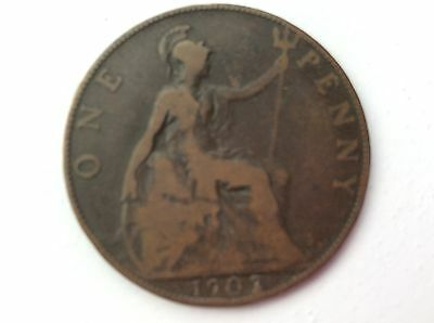 1907 Edward VII ONE PENNY COIN