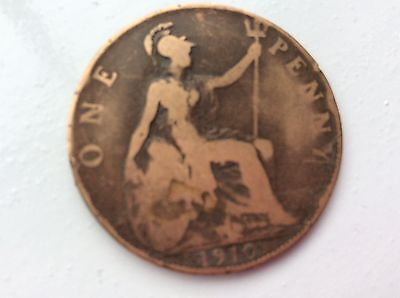 1910 Edward VII ONE PENNY COIN