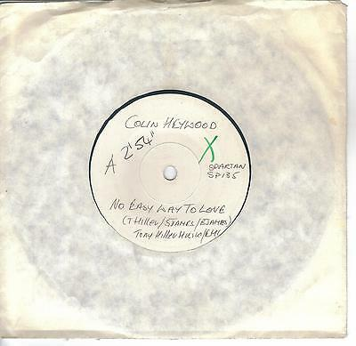 """Eurovision 1986 UK Final Colin Heywood No Easy Way To Love white label promo 7"""""""