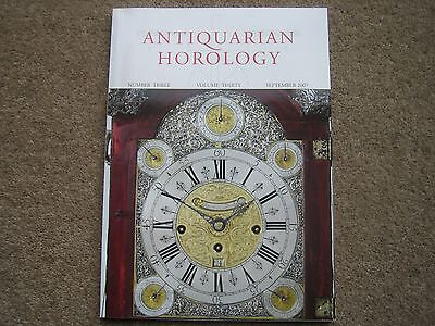 Antiquarian Horology Magazine. Number 3, Volume 30, September 2007
