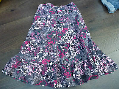 Baby Girl Age 3 Years Floral Grey & Pink Long Cotton Skirt by TU