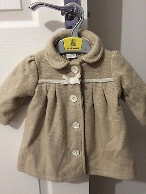 baby Girls Mamas and Papas Coat 3-6 Months