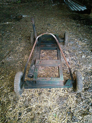 Small Vintage Go-Kart Frame/Chassis, Wheels Restoration Project As Found
