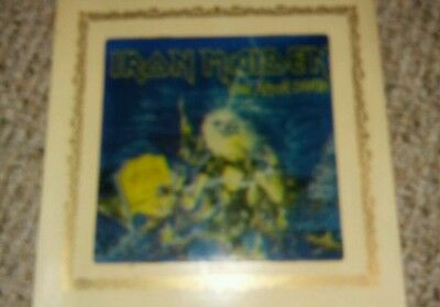 Vintage 80s Carnival mirror Iron Maiden live after death