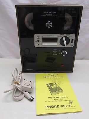 Vintage PHONE-MATE 400 Automatic Telephone Answering Machine Japan PM400S