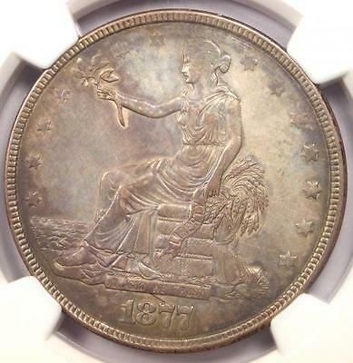 1877 Trade Silver Dollar T$1 - NGC AU Details - Rare Certified Coin