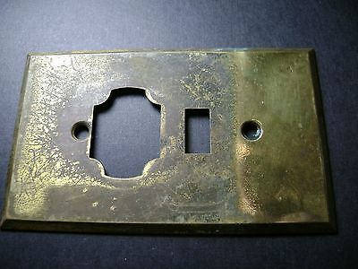 Rare Vintage Solid Brass Unusual Electric Plate Bryant -Heavy gauge brass