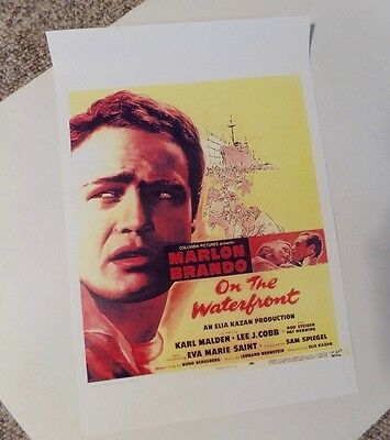 On the Waterfront Reproduction Poster Marlon Brando 11 x 14