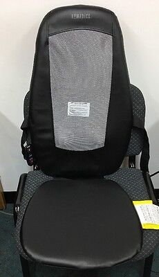 Homedics Shiatsu Back Upper Lumbar Massage Chair Cushion Massager Heat SBM179H