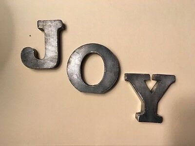 "2.5"" Small Decorative Silver Metal Standing Mini 3D Wall ALL Letters Sit or Hang"