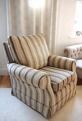 Stripe MULTIYORK Armchair Reading Occasional Chair Bedroom Chair Feather filled