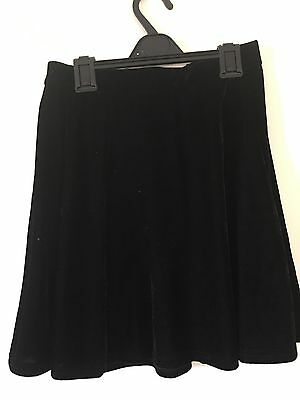 YD from New Look. Girls Black Velour Skater Style Skirt. Age 12-13 Years