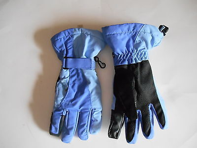 Lands End Girls Gloves Size M Periwinkle Blue Two Toned