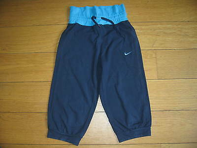 Nike Navy blue joggers with bright blue waistband Girls Medium Age 10-12 Years