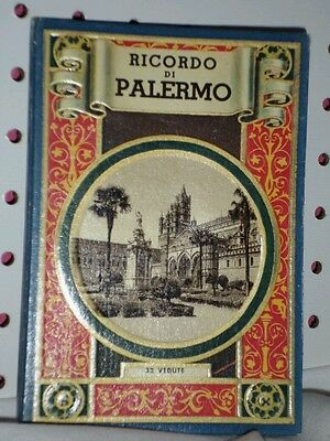 Vintage Ricordo Di Palermo Postcard Type Pictures in Booklet