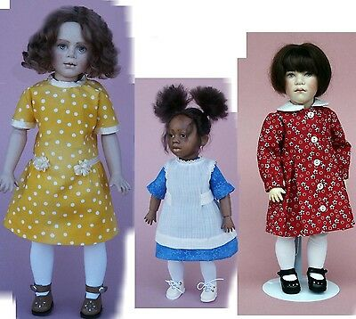 3 Different Dress Sewing Patterns for 11 1/2 Inch Dolls #109