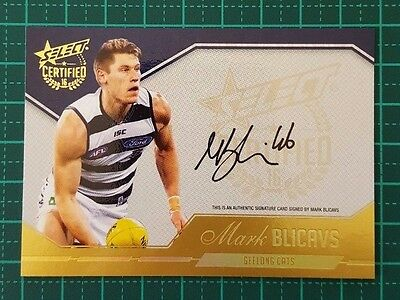 2016 AFL Select Certified Mark Blicavs Auto #050/240