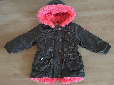 Next Girls Jacket Khaki and Pink  1.5-2 years