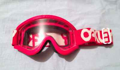 Oakley 0/20  Old School Bmx  Mx Goggles In Red Rare 80's Nos