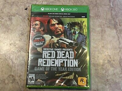 NEW Red Dead Redemption Game of the Year Edition (Microsoft Xbox 360 One, 2011)