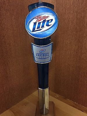 Miller Lite Beer Tap Handle with Football shield
