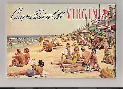 """Carry me Back to Old Virginia"" Early 1950's State Tourist Guide. VG/EX conditon"