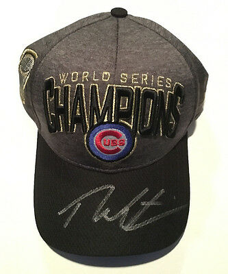 Chicago Cubs Theo Epstein Signed Official 2016 World Series Champions Hat Proof