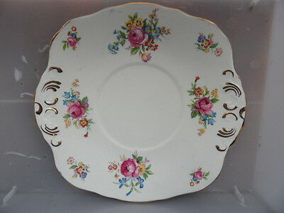 Pretty Sutherland Bone China Floral    Sandwich Plate    Vintage  Items