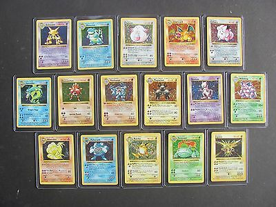 Pokemon COMPLETE SHADOWLESS BASE SET 102/102 - HOLOS - CHARIZARD - (PL to MT)