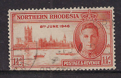 NORTHERN RHODESIA KGV1 1946 1 1/2d VICTORY USED  ( T751 )