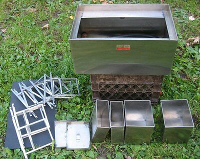 Calumet Film Processing Developing Stainless Steel Tank print Washer 4x5 holders