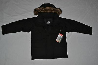 THE NORTH FACE BOYS McMURDO DOWN PARKA BLACK SIZE XS (6) BRAND NEW